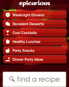 Epicurious iPhone Application