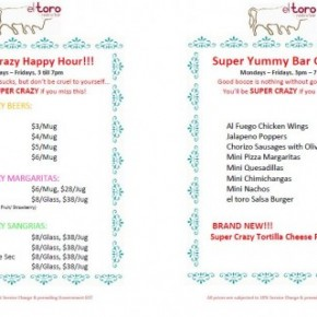 Ditch Work for Happy Hour at El Toro Singapore