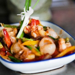 Thai Recipe - Spicy, Sweet and Sour Stir-Fried Prawns (Koong Saam Rod)
