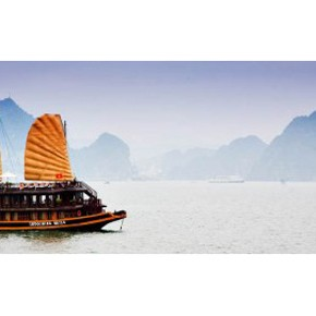 Cruising Halong Bay, Vietnam on a Chinese Junk