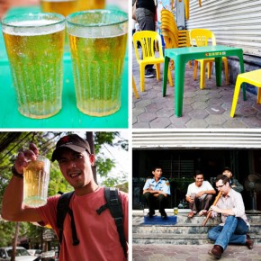 Enjoying Life on the Streets of Vietnam - Fresh Bia Hoi and Smoking with Locals