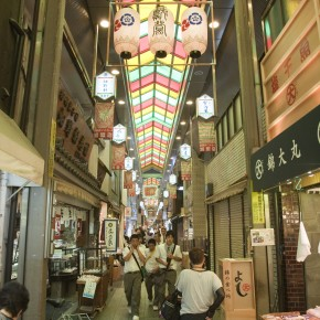 Nishiki Market for Kitchen and Souvenir Shopping in Kyoto, Japan