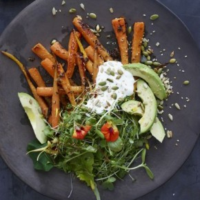 Recipe from Jean Georges Vongerichten - Carrot and Avocado Salad with Crunchy Seeds