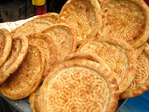 xian china muslim quarter flatbreads